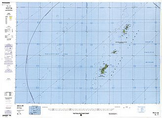 Map including the inhabited islands of the Northern Mariana Islands (DMA, 1988) Txu-pclmaps-oclc-22834566 k-13b.jpg