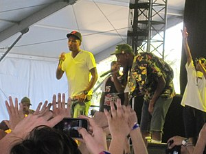 Pharrell Williams - Pharrell Williams, Odd Future and Tyler, The Creator performing together in April 2011