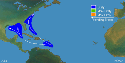 Typical locations and tracks in July Typical North Atlantic Tropical Cyclone Formation in July.png
