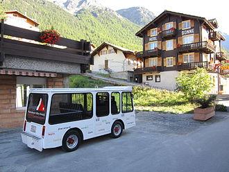Grächen - Electric taxi in Grächen