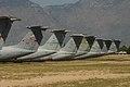 U.S. Air Force Lockheed C-141 Starlifter Tail Line Up (8392174328).jpg