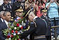 U.S. Army Gen. Martin E. Dempsey, front right, the chairman of the Joint Chiefs of Staff, watches as President Barack Obama lays a wreath during the 145th annual Memorial Day ceremony at the Tomb of the Unknowns 130527-D-HU462-152.jpg
