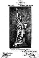 Bartholdi's design patent.