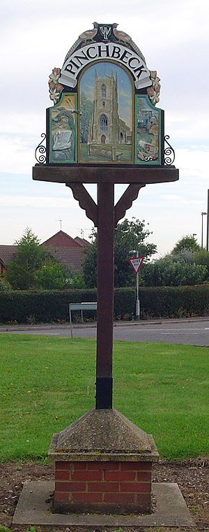 Pinchbeck, Lincolnshire - Signpost in Pinchbeck