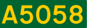 A5058 road shield