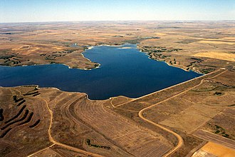 North Fork Grand River (South Dakota) - Bowman-Haley Dam and Lake on the North Fork of the Grand River in Bowman County, North Dakota