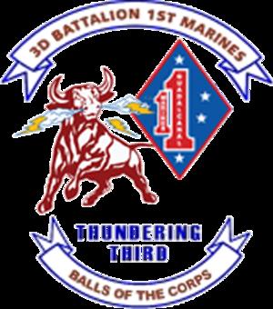3rd Battalion, 1st Marines - Image: USMC 3RD BN 1ST MAR 3