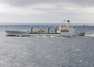USNS Kanawha (T-AO-196) underway in January 2014.JPG