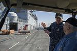 USS Arizona survivor visits USS America 141023-N-LQ799-226.jpg