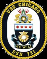 USS Chicago SSN-721 Crest