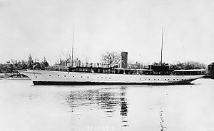 Chester Alan Arthur II - The presidential yacht during Chester A. Arthur's presidency that his son enjoyed.