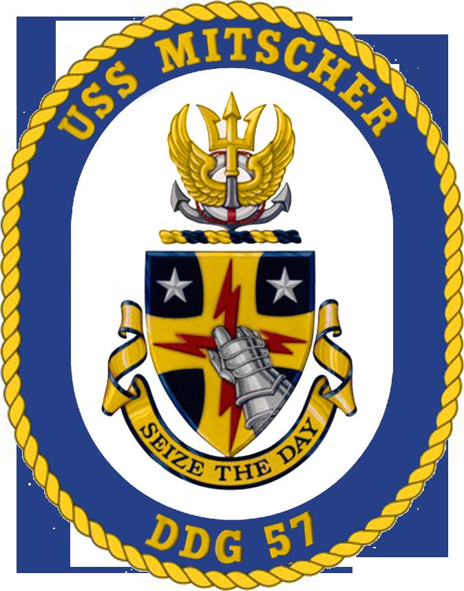 USS Mitscher DDG-57 Crest