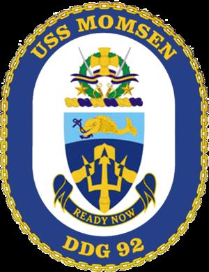 USS Momsen - Image: USS Momsen DDG 92 Crest