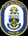 USS Momsen DDG-92 Crest.png
