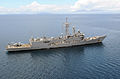 USS Thach (FFG 43), assigned to the Ronald Reagan Carrier Strike Group, transits the Sulu Sea off the coast of Iloilo, Philippines, June 30, 2008, in support of humanitarian aid missions in the area 080630-N-HX866-016.jpg