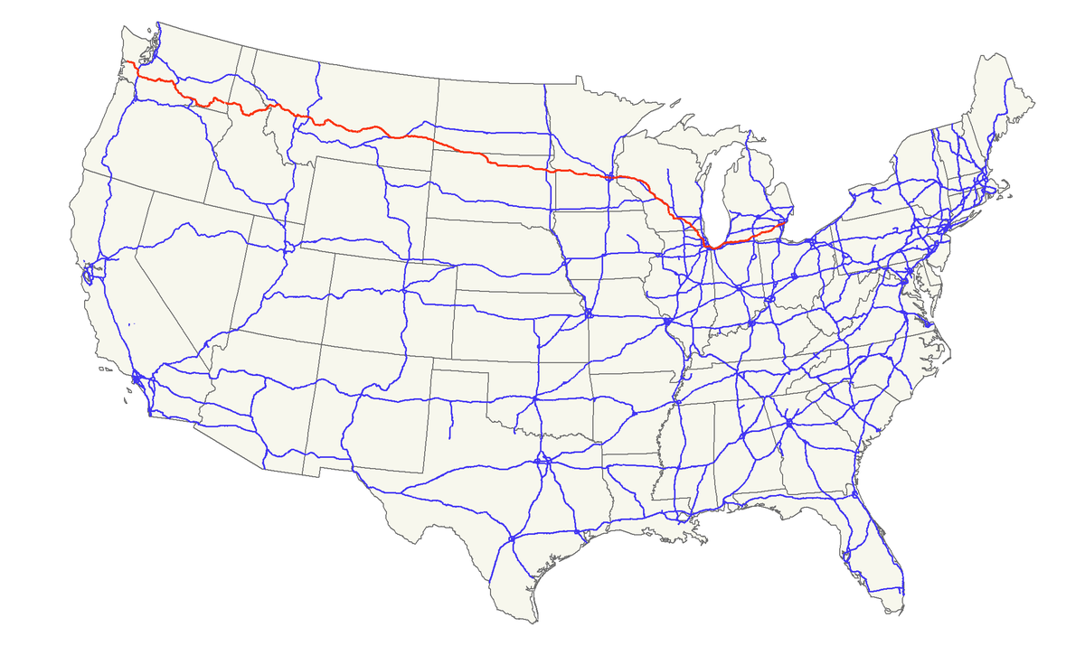 US Route  Wikipedia - Us highway map with speed limits