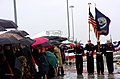 US Navy 050305-N-9013W-001 A color guard marches past attendees of the commissioning ceremony of the U.S. Navy's newest guided missile destroyer USS Nitze (DDG 94) held on board Naval Station Norfolk, Va.jpg