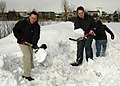 US Navy 070208-N-4649C-035 Gas Systems Technician Mechanical 2nd Class David Wiley clears out snow while participating in a community relations project at the Kosho Gakuen Home for Children.jpg