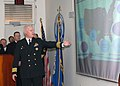 US Navy 070212-N-1550W-002 Commodore of Destroyer Squadron Fourteen (DESRON-14), Capt. Thomas Reese, discusses the newly formed Guided Missile Frigate Class Squadron (CLASSRON) mission and capabilities.jpg
