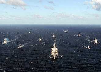 BALTOPS - Ships from various navies participating in Baltic Operations 2008 maneuver into formation (June 11, 2008)