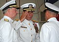 US Navy 080712-N-3285B-049 Adm. James Stavridis, right, commander U.S. Southern Command, receives a saluted from Rear Adm. Joseph D. Kernan, center, after assuming command of U.S. Naval Forces Southern Command (NAVSO), U.S. 4th.jpg