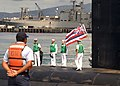 US Navy 090723-N-5476H-417 Sailors man topside of the Virginia-class attack submarine USS Hawaii (SSN 776) during their arrival to Pearl Harbor.jpg