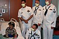 US Navy 110505-N-CI293-038 A child wears a Navy ball cap in the pediatric ward of the Denver Health and Hospital Authority presented to him by Sail.jpg