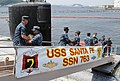 US Navy 110520-N-DI599-019 Sailors assigned to the Los Angeles-class attack submarine USS Santa Fe (SSN 763) load stores shortly after mooring at F.jpg