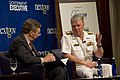 US Navy 110609-N-ZB612-083 Chief of Naval Operations (CNO) Adm. Gary Roughead speaks to Tim Clark during the Government Executive Leadership Breakf.jpg