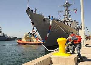 US Navy 110701-N-DI719-026 The guided-missile destroyer USS William P. Lawrence (DDG 110) arrives at homeport at Naval Base San Diego.jpg