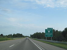 Photograph looking southbound at the Bus. US 31 interchange for Pentwater
