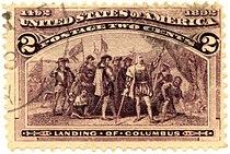 Landing of Columbus, 2¢