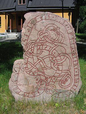 Hagby Runestones - The runestone U 152.