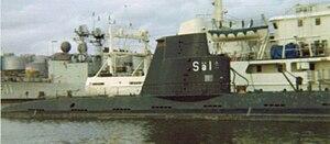 Hajen-class submarine - Image: Ubåten HMS Sälen 1977