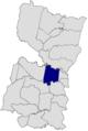 Ubicación de Minga Guazú en el departamento de Alto Paraná.png