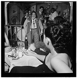 Uffe Bode, Doc Pomus, Sol Yaged, John Levy and Rex William Stuart 1947.jpg