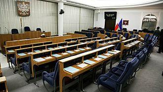 Parliament of Poland - The Senate debating hall