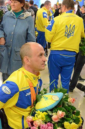Hennadii Boiko - Image: Ukraine Paralympics team at Boryspil 2016 028