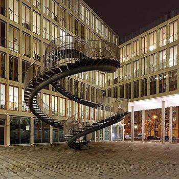 """Umschreibung"" is an art installation by Olafur Eliasson in Munich"