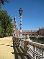 Una vista de la plaza de Espana en Sevilla.JPG