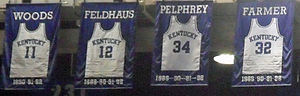 1991–92 Kentucky Wildcats men's basketball team - Image: Unforgettables jerseys