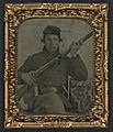 Unidentified soldier in Union uniform with musket, bayonet, and cartridge box LOC 5229209426.jpg
