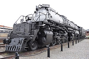"""Union Pacific 4012 - """"Big Boy"""" 4012 on static display at Steamtown National Historic Site"""