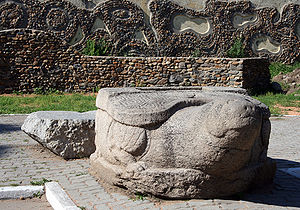 Manchuria - A 12th-century Jurchen stone tortoise in today's Ussuriysk