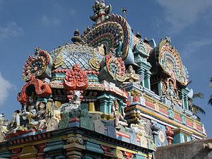 Uthamar Kovil - Uthyanga Vimanam, the roof of the sanctum