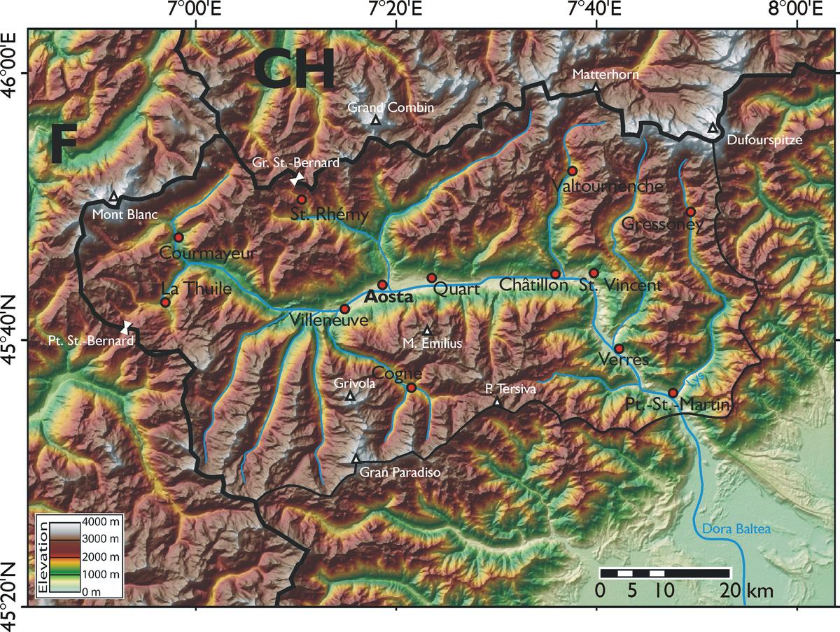 Cartina Geografica Piemonte Valle D Aosta.Geografia Della Valle D Aosta Wikipedia