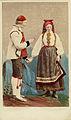 Världsutställningen i Paris 1867. Man och kvinna i dräkter från Hetterdal, Telemarken, Norge - Nordiska Museet - NMA.0039989.jpg