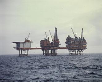 Valhall oil field - Valhall A oil platforms