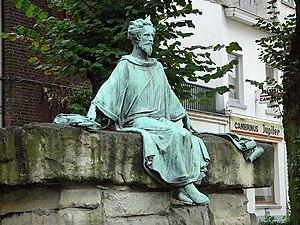 Heinrich von Veldeke - Van Veldeke monument in Hasselt, Belgium