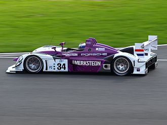 Jos Verstappen - Verstappen driving for Van Merksteijn Motorsport at the 2008 1000km of Silverstone, in which he and teammate Peter van Merksteijn Sr. won the LMP2 class.